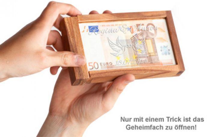 Magische Geldgeschenkbox - Liebestauben Gravur