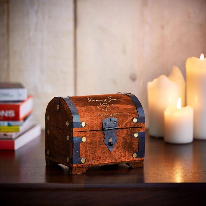 Geld Schatztruhe zur Hochzeit Dunkel