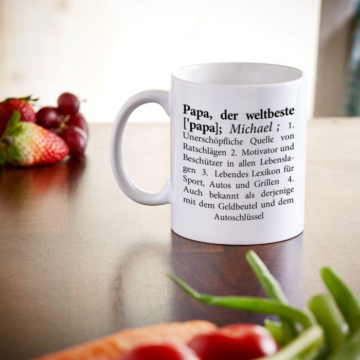 Personalisierte Tasse - Definition Weltbester Papa