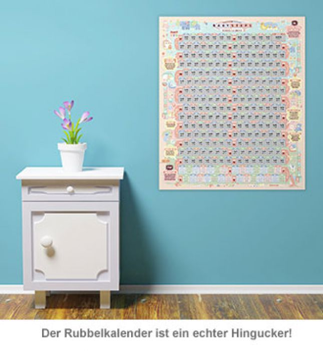 Rubbelkalender - Baby unterwegs