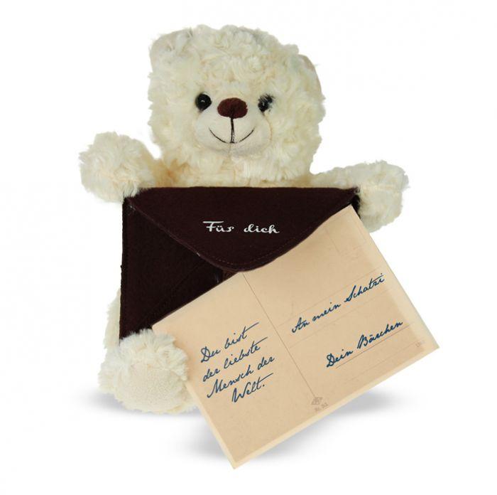 Botschaftsbär - brauner Umschlag