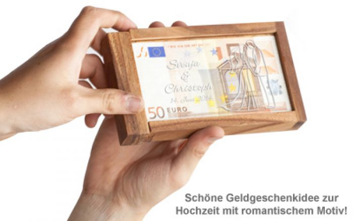Magische Geldgeschenkbox mit Gravur - Silhouette