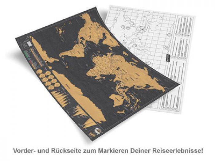 Scratch Map Deluxe im Reiseformat