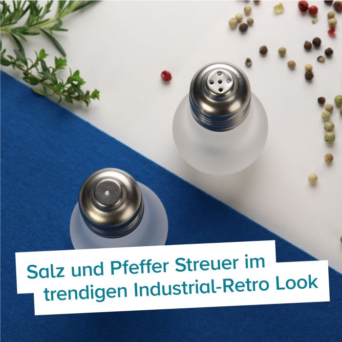 Salz Und Pfeffer Streuer Gluhbirnen Design Fur Den Kuchentisch