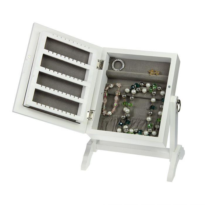 mini schmuckschrank mit spiegel auf wunsch mit namensgravur. Black Bedroom Furniture Sets. Home Design Ideas
