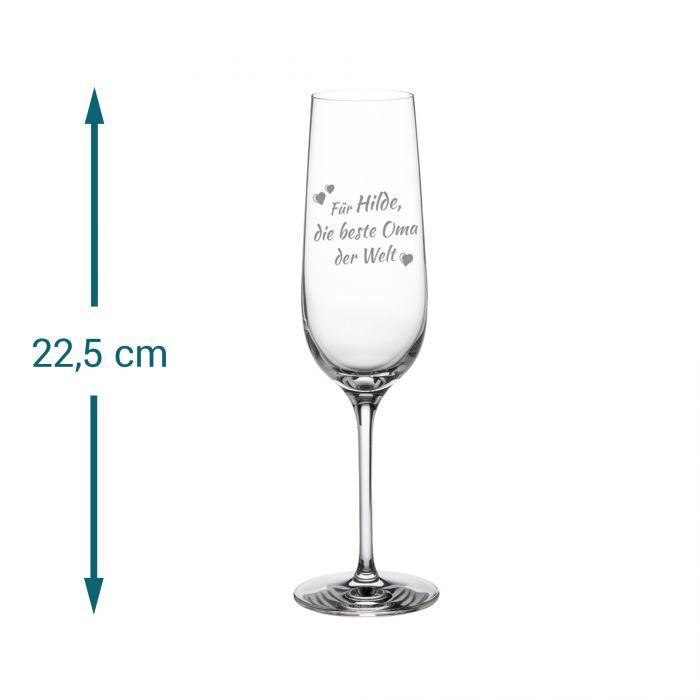 Sektglas mit Gravur - Beste Oma