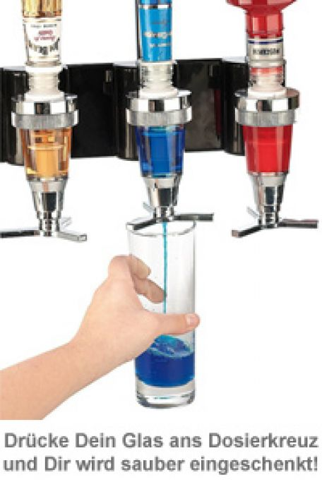 Bar Butler für die Wand - 4er Flaschenhalter