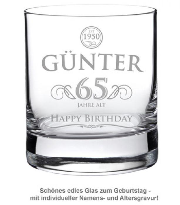 Whiskyglas zum Geburtstag - Elegant