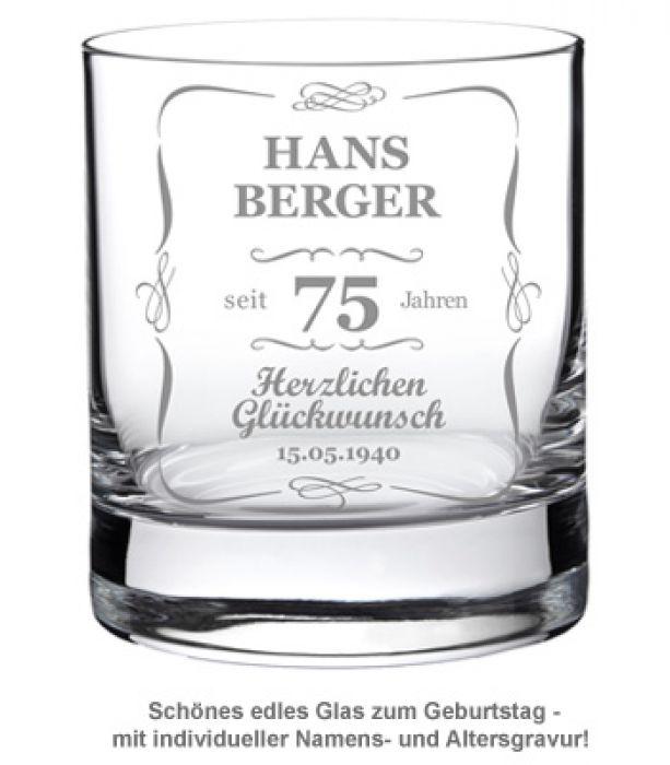 Whiskyglas zum Geburtstag - Klassisch