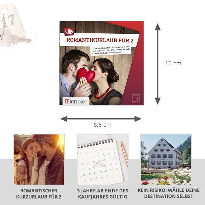 Romantikurlaub für 2 - Kurzurlaub Hotelgutschein