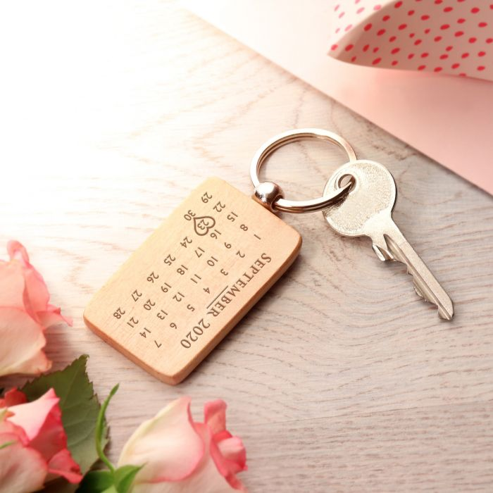 Schlüsselanhänger Kalender mit Gravur