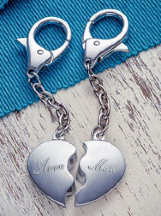 Schlüsselanhänger Liebespaar mit Namen