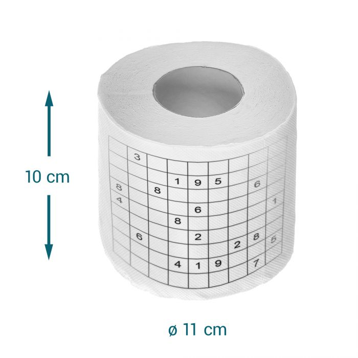 Sudoku Toilettenpapier - 3er Set