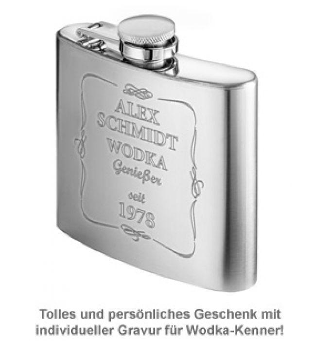 Flachmann mit Gravur - Wodka Genießer