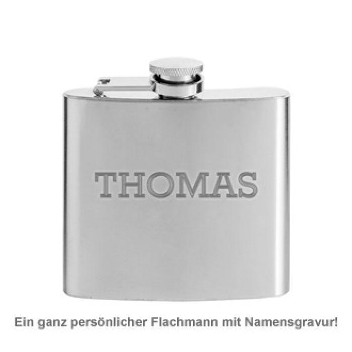 Flachmann mit Gravur - Name