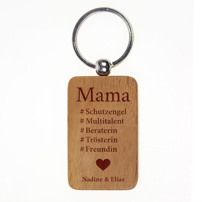 Schlüsselanhänger graviert - Hashtag Mama
