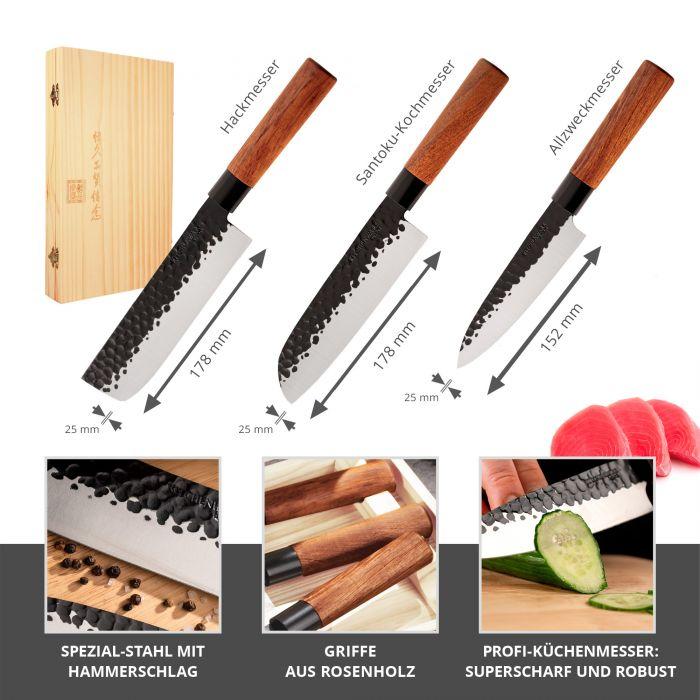 Küchenmesser Set - 3-teilig