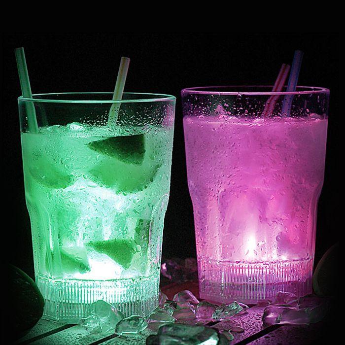 Leuchtglas mit Touch Funktion - blau