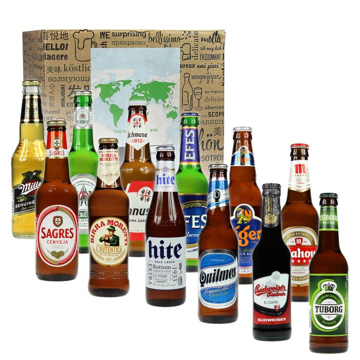 Voyage autour du monde en bières XL - Coffret cadeau 12 pièces