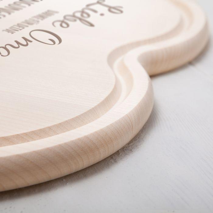 Graviertes Holzherz - Die beste Omi