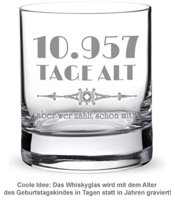 Whiskyglas mit Gravur - Alter in Tagen