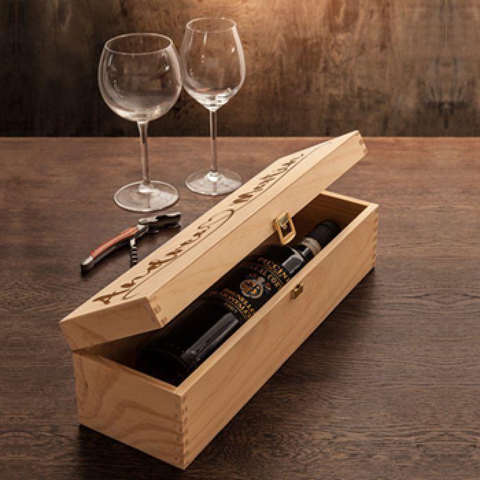 Boîte à vin personnalisée - Ligne cardiaque