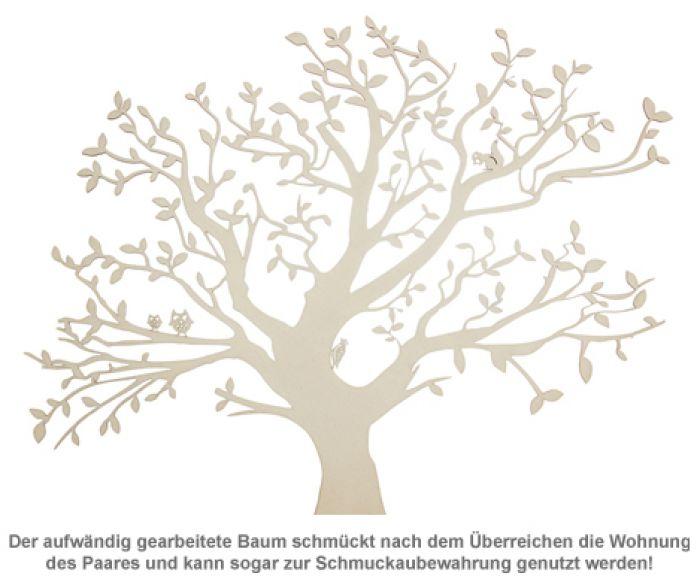 Baum mit Sockel graviert - für Paare (groß)