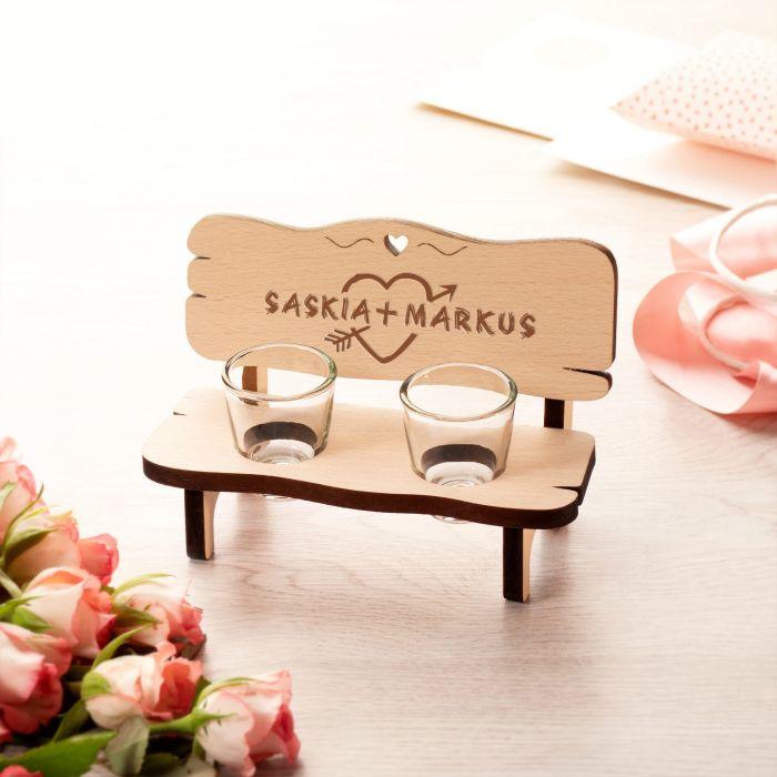 Personalisierte Schnapsbank für Paare