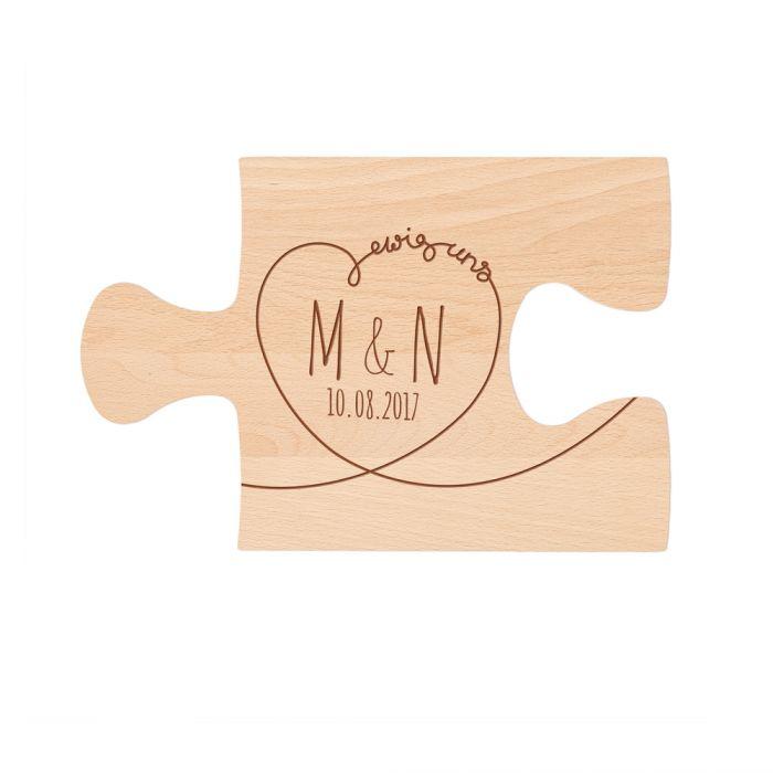 Personalisiertes Puzzle Brettchen Set - Ewig Dein