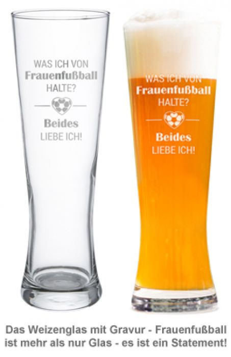 Weizenglas mit Gravur - Frauenfußball