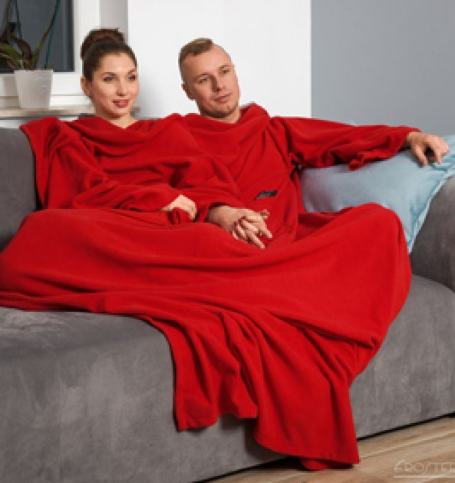 Kuscheldecke mit Ärmeln für Paare