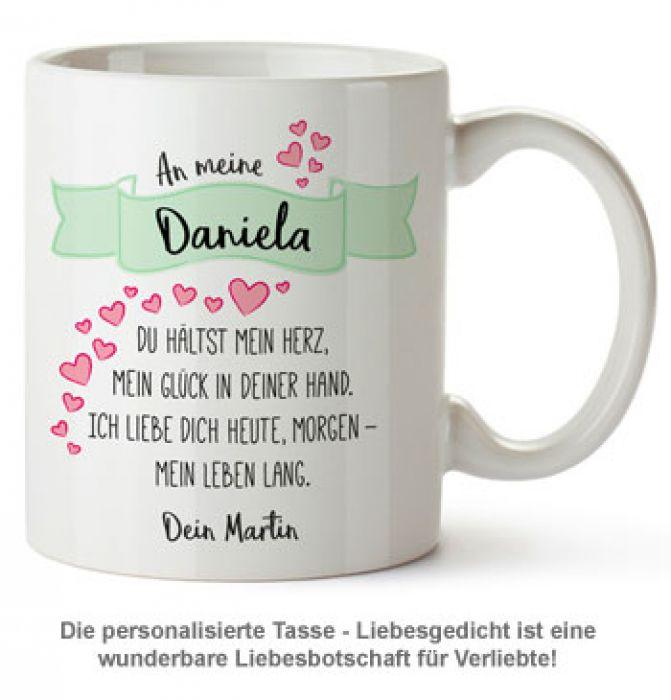 Personalisierte Tasse - Liebesgedicht