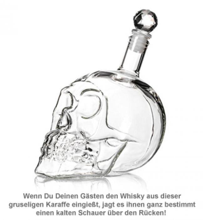 Whisky Karaffe Totenkopf