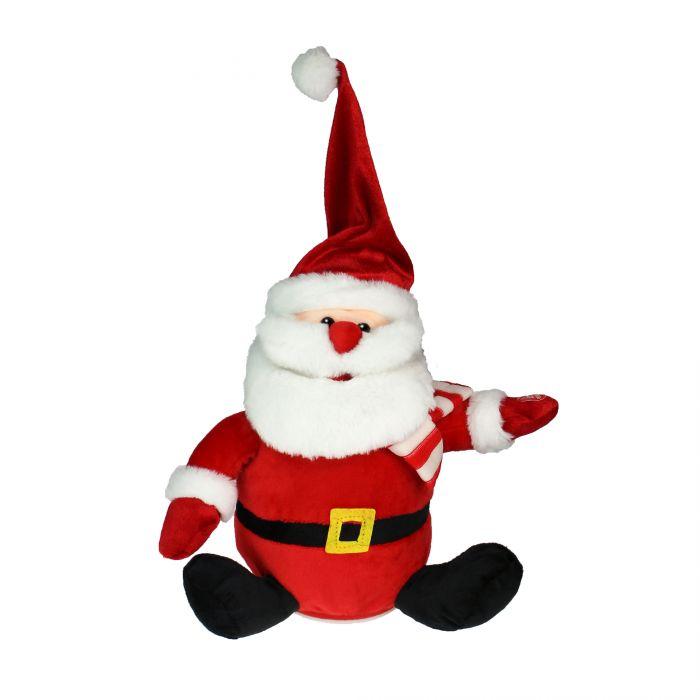 Singender Weihnachtsmann mit tanzender Mütze