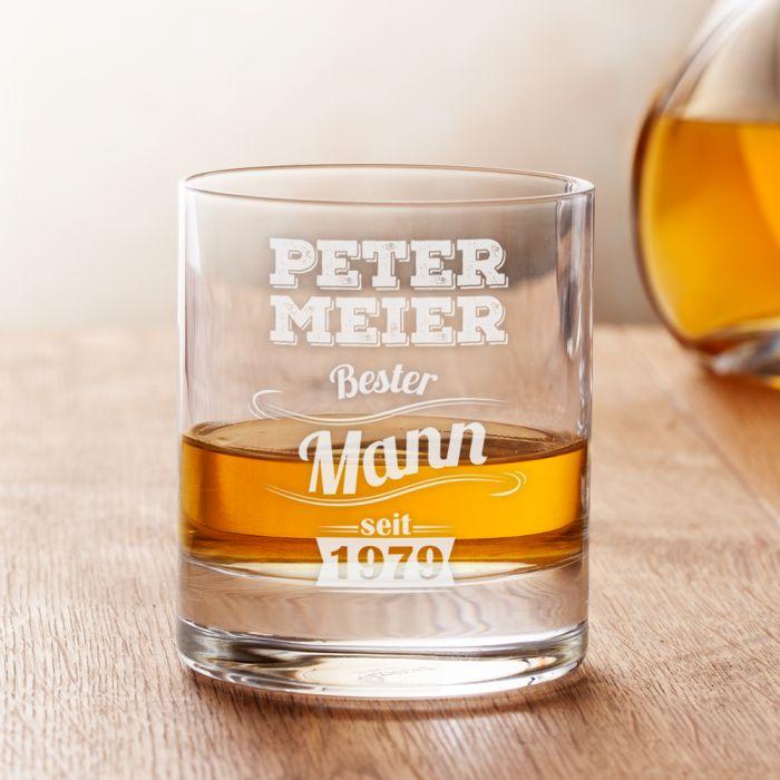 Whiskyglas mit Gravur - Bester Mann