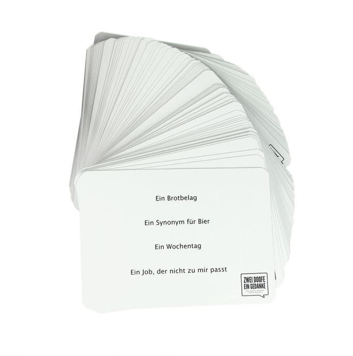 Zwei Doofe ein Gedanke - Kartenspiel