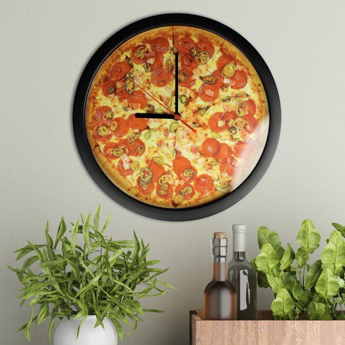 Wanduhr - Pizza