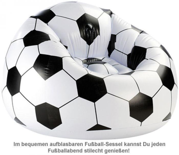 Aufblasbarer Sessel - Fußball XXL