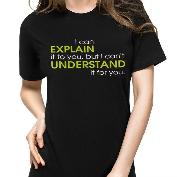 T-Shirt mit Druck - Explain vs Understand - Größe L
