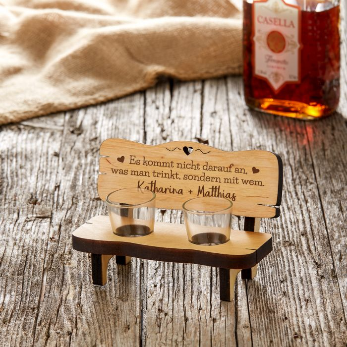 Personalisierte Schnapsbank Für Paare Trinkspruch