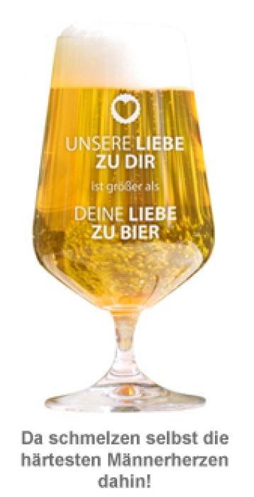 Bierglas - Unsere Liebe