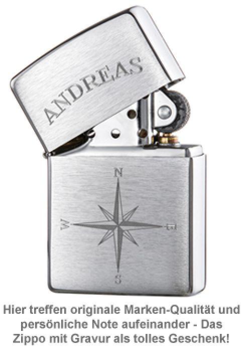Zippo Feuerzeug mit Gravur - Kompass