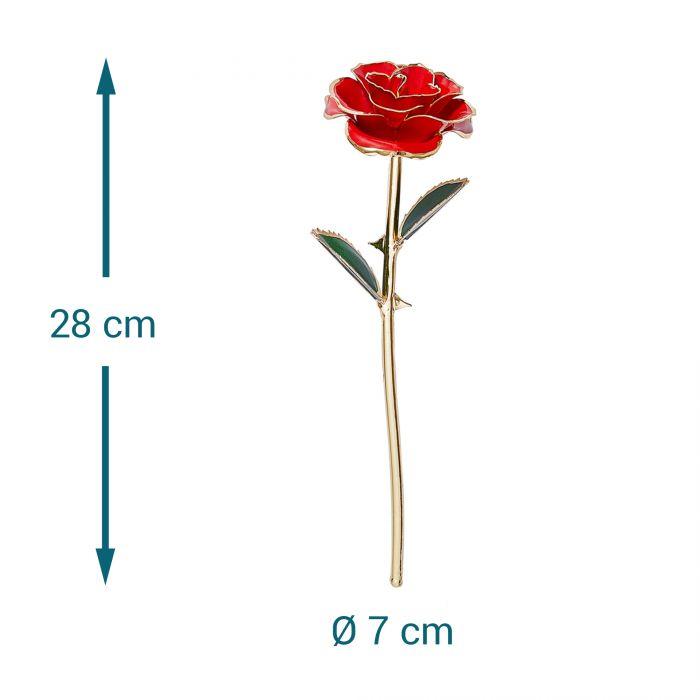 Vergoldete Rose mit personalisierter Geschenkbox