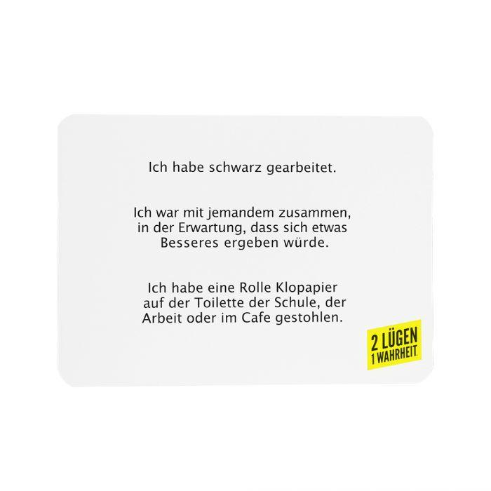 Kartenspiel - 2 Lügen 1 Wahrheit