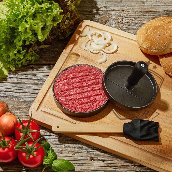 Burgerpresse mit Schneidebrett Grillset - Bester Papa