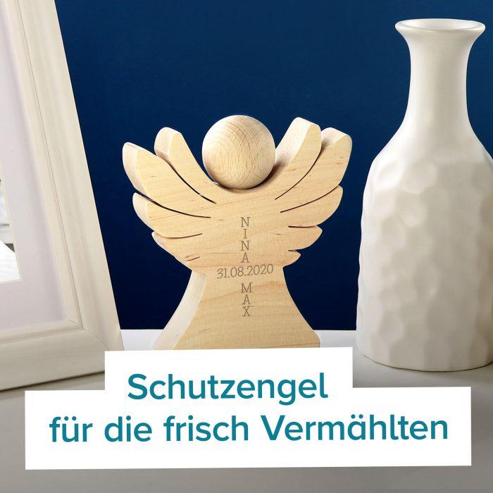 Holzengel Mit Gravur Zur Hochzeit Verpackung Geldgeschenk