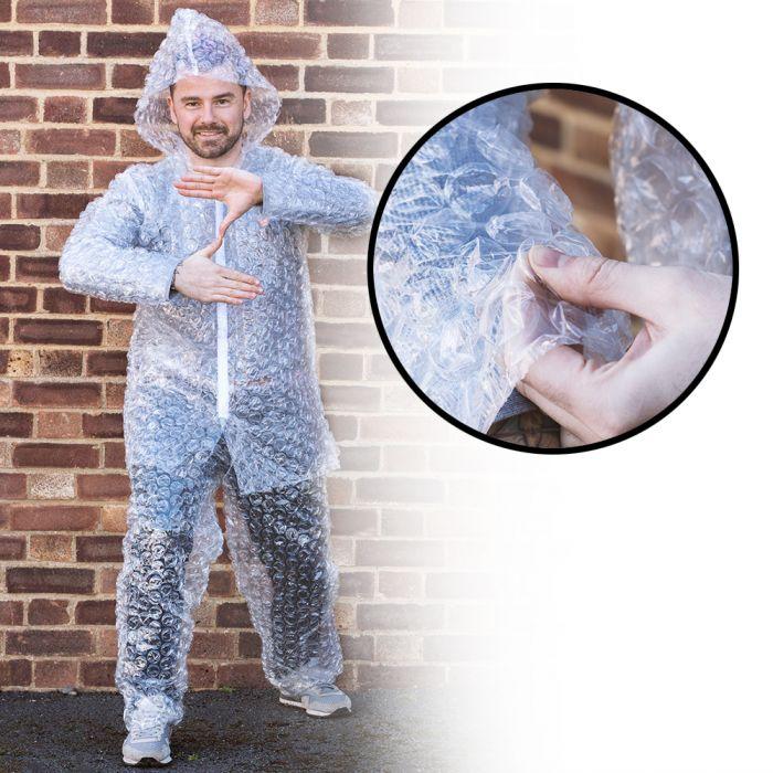 Luftpolsterfolie Anzug - Faschingskostüm