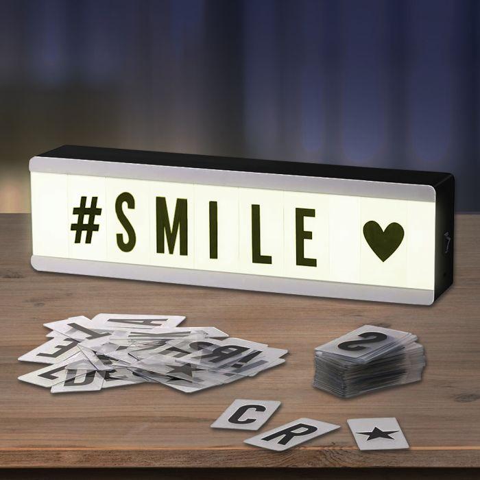 Mini boîte lumineuse avec lettres - Lightbox