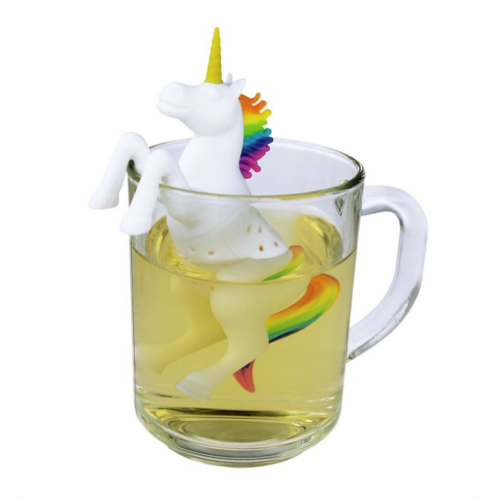 einhorn tee ei silikon teesieb unicorn tea infuser teekugel. Black Bedroom Furniture Sets. Home Design Ideas
