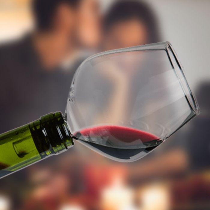 Flaschenaufsatz - Weinglas